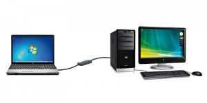 Компьютер соединенный с ноутбуком